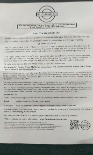 A leaflet handed out by One Levenshulme & Co. Transcript available in article Appendix